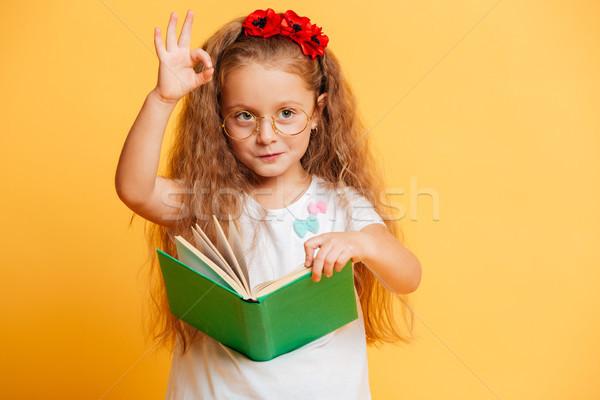 Pequeno bonitinho bastante menina leitura livro Foto stock © deandrobot