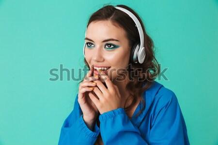 Portret geschokt jong meisje armen geïsoleerd Stockfoto © deandrobot