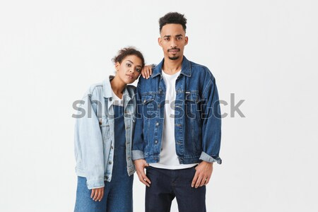 Full length portrait of two upset young men Stock photo © deandrobot