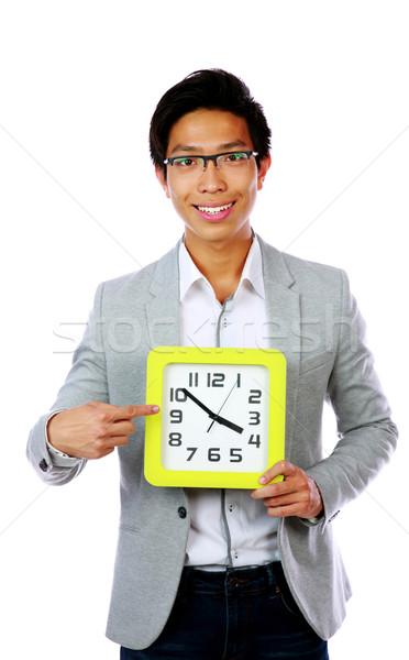 Negócio tempo homem de negócios indicação grande Foto stock © deandrobot