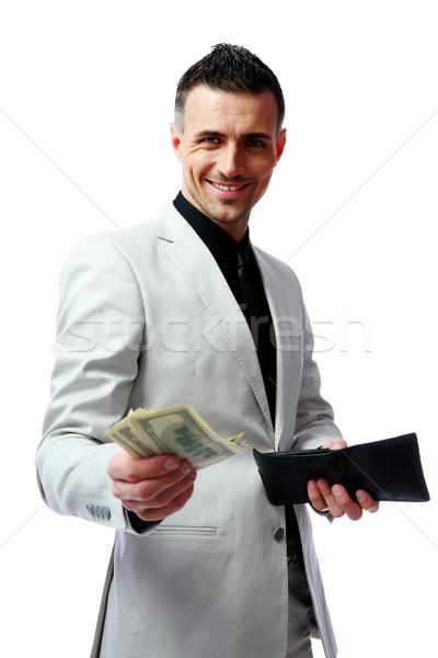 Сток-фото: счастливым · бизнесмен · долларов · деньги · мужчин · черный