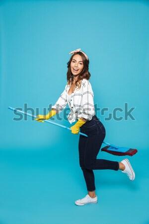 Mujer de negocios espalda retrato blanco mirando Foto stock © deandrobot