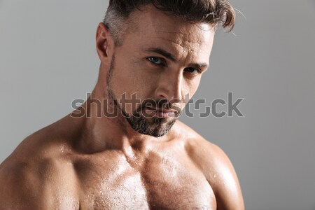Portrait of a atheltic muscular man screaming Stock photo © deandrobot