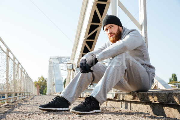 Сток-фото: портрет · спортивных · человека · за · пределами · молодые