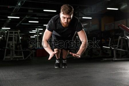 Przystojny młodych silne sportowe człowiek Zdjęcia stock © deandrobot