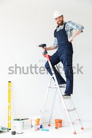 Ver de volta foto homem construtor reparar Foto stock © deandrobot