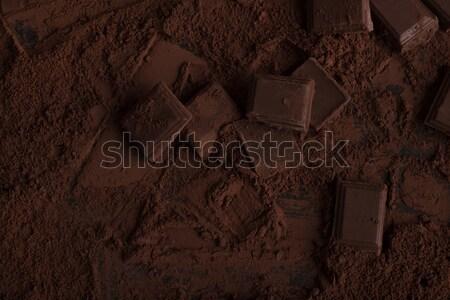 темный шоколад Бар частей поверхность Сток-фото © deandrobot