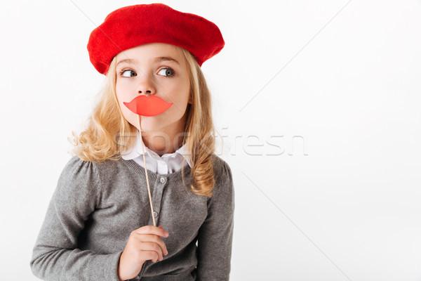 портрет довольно мало школьница равномерный Сток-фото © deandrobot