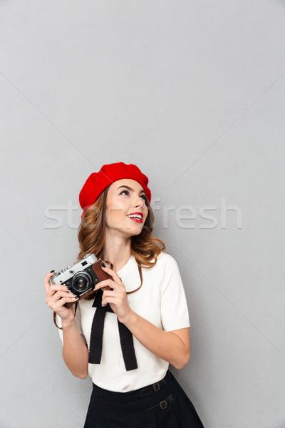 портрет счастливым школьница равномерный фото Сток-фото © deandrobot