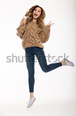 Feliz bueno gesto imagen Foto stock © deandrobot