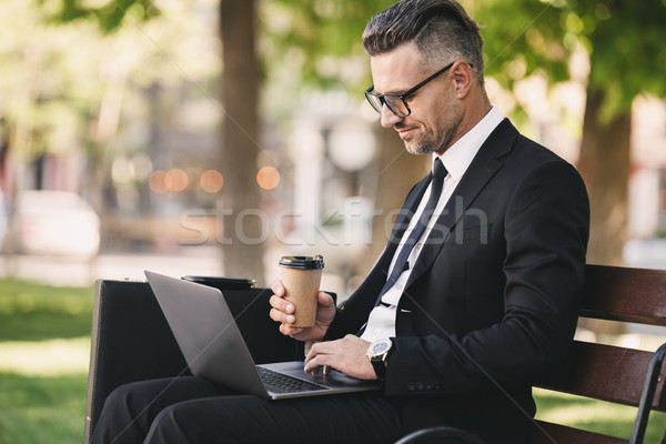 Portrait of a successful businessman dressed in formal clothes Stock photo © deandrobot