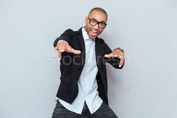 小さな ハンサムな男 ダンス グレー ハンサム スタイリッシュ ストックフォト © deandrobot