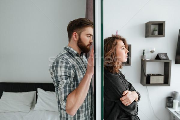 Młodych kłócić się kochający para stałego domu Zdjęcia stock © deandrobot