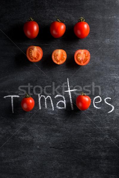 Tomates oscuro superior vista Foto salud Foto stock © deandrobot