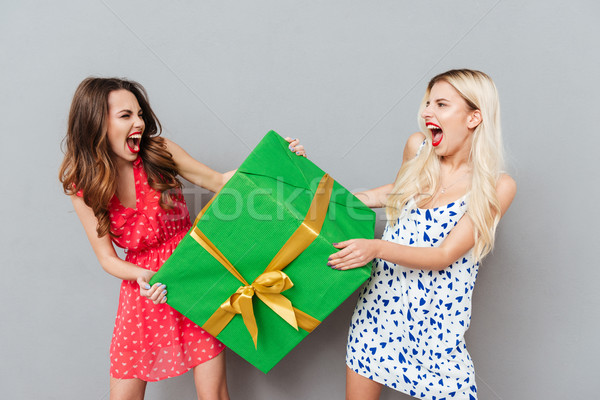 Women with gift Stock photo © deandrobot