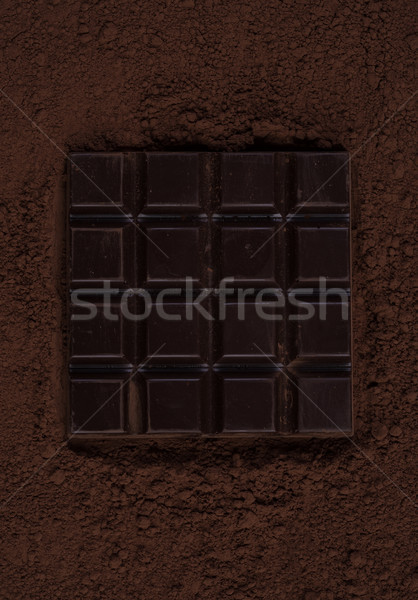 Top view of a dark chocolate bar Stock photo © deandrobot