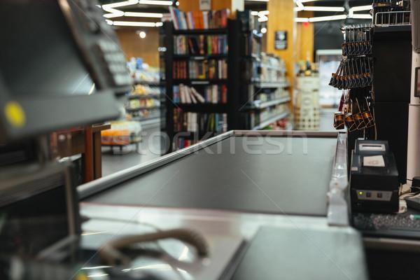 пусто кассир работу место супермаркета Сток-фото © deandrobot
