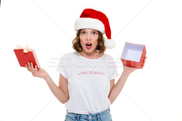 Mylić niezadowolony pani christmas Zdjęcia stock © deandrobot