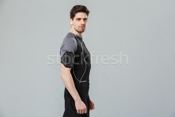 портрет концентрированный молодые спортсмен Сток-фото © deandrobot