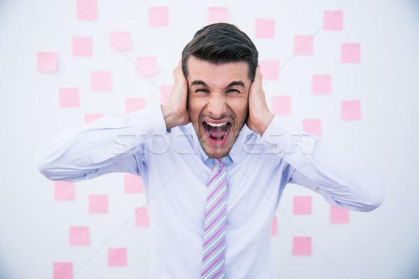 Empresário orelhas escritório negócio fundo Foto stock © deandrobot
