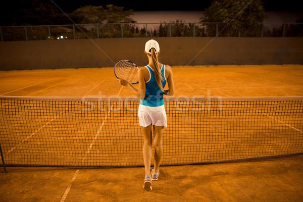 Female tennis player  Stock photo © deandrobot