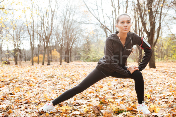 Stock photo: Concentrated runner make sport exercise