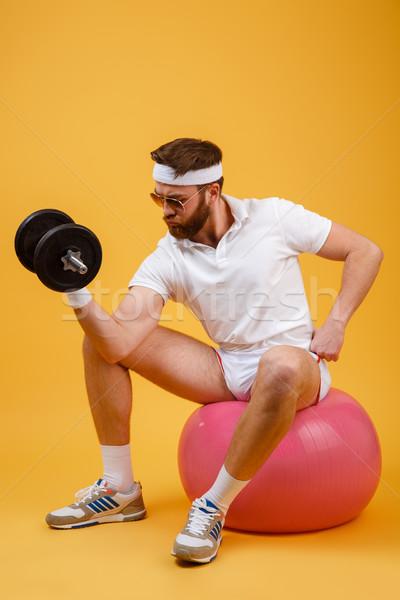 Stockfoto: Verticaal · afbeelding · vergadering · fitness · bal