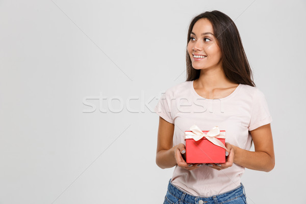 Portrait of a delighted happy asian woman Stock photo © deandrobot