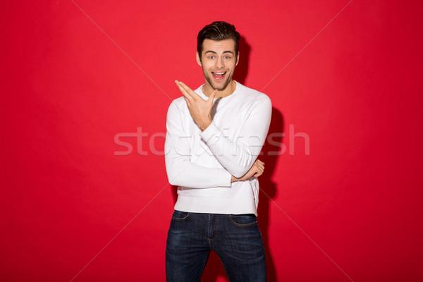 画像 驚いた 幸せ 男 セーター 見える ストックフォト © deandrobot