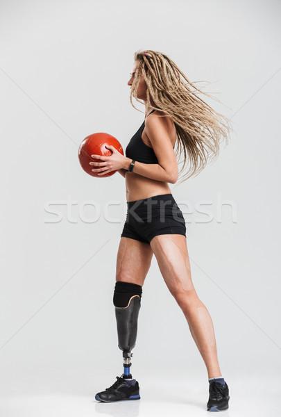 инвалидов изолированный мяча изображение Сток-фото © deandrobot