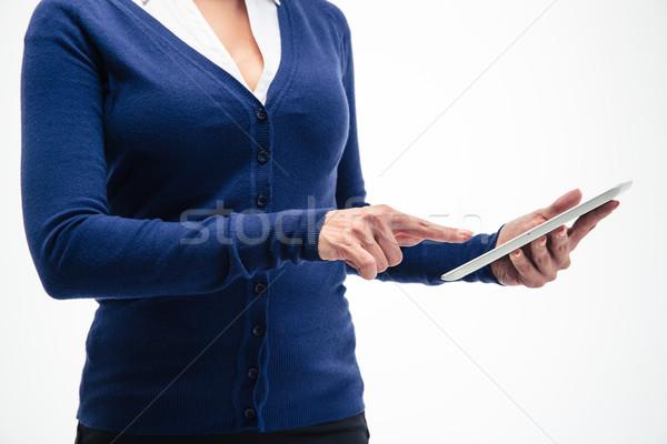 Kadın eller portre yalıtılmış Stok fotoğraf © deandrobot