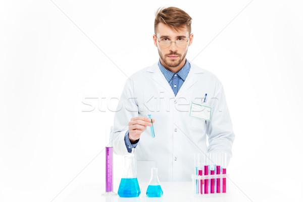 Bilim adamı kimyasallar laboratuvar tıbbi tıp Stok fotoğraf © deandrobot