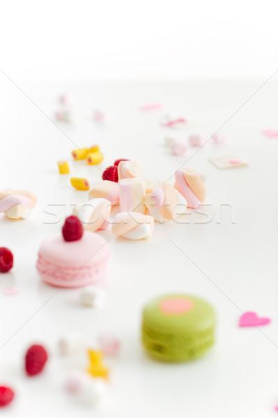 Kleurrijk zoete voedsel cake fles kleur Stockfoto © deandrobot