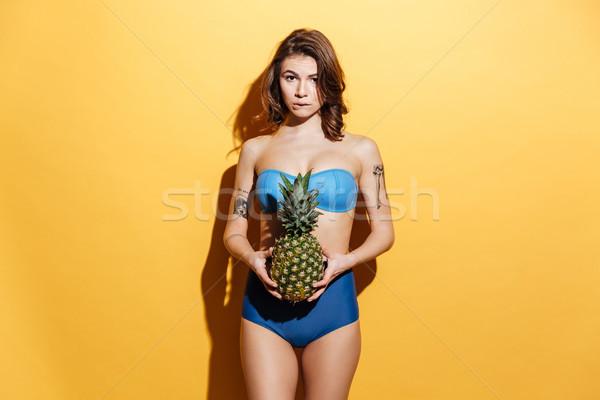 довольно ананаса изображение Сток-фото © deandrobot