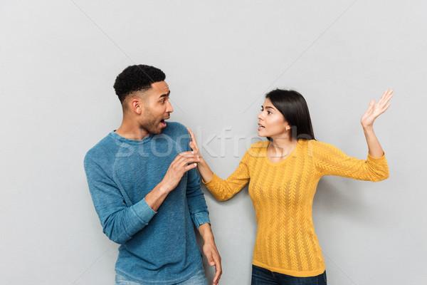 Młodych lovers kłócić się walki żona przestraszony Zdjęcia stock © deandrobot