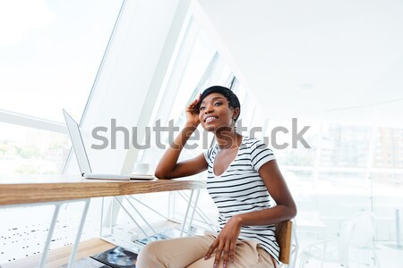 Smiling young asian woman with bath towel Stock photo © deandrobot