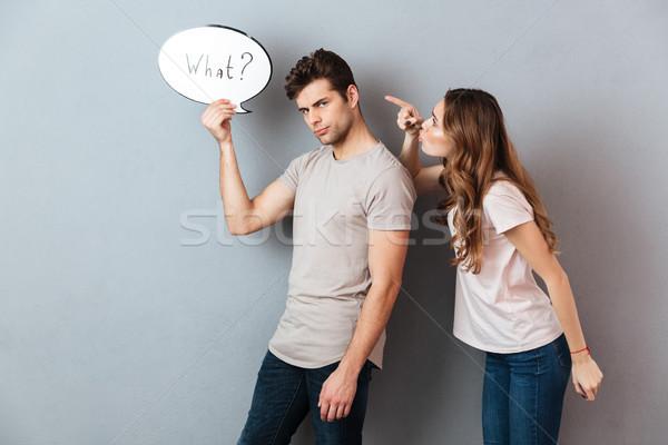 Portrait argument frustré homme Photo stock © deandrobot