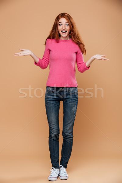 Foto stock: Retrato · feliz · jovem · menina