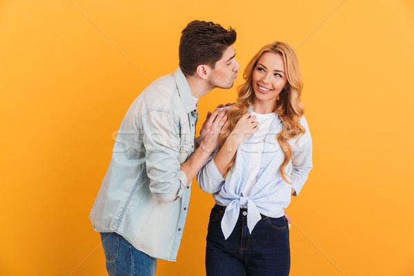 Image of young people wearing denim clothing in relationship exp Stock photo © deandrobot
