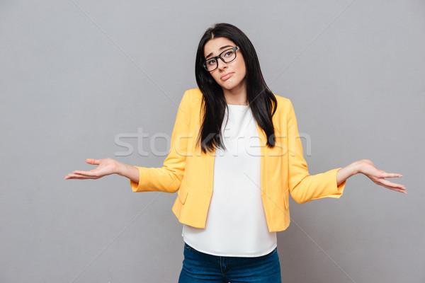 Confundirse gris amarillo chaqueta mirar Foto stock © deandrobot