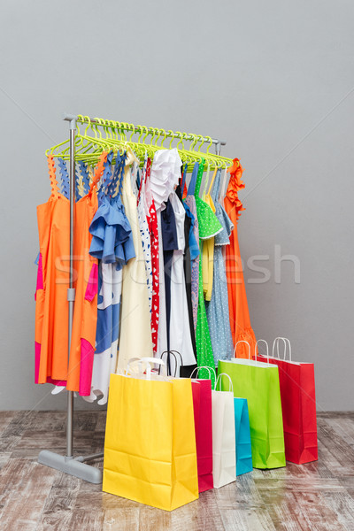 Rack with clothes Stock photo © deandrobot