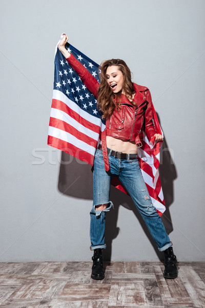 Photo stock: Patriotique · fille · rouge