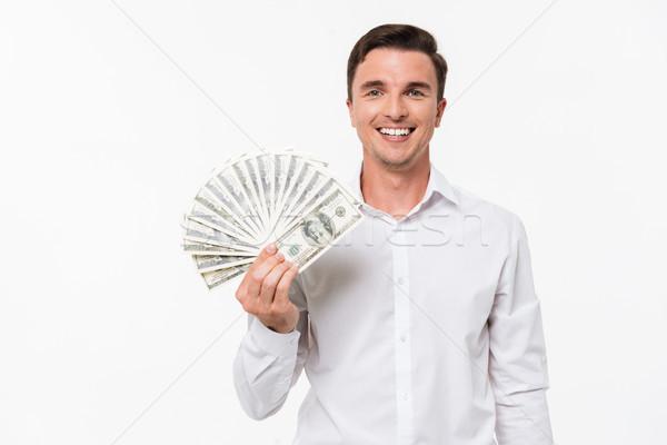 Retrato satisfecho exitoso hombre blanco camisa Foto stock © deandrobot
