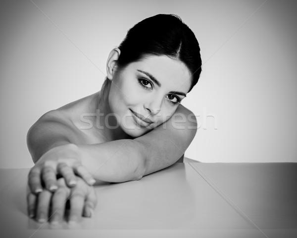 красоту модель портрет изолированный белый девушки Сток-фото © deandrobot
