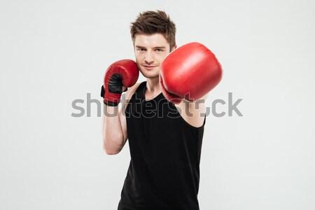 Fashion boxer Stock photo © deandrobot