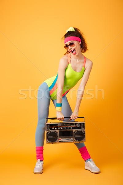 Gelukkig mooie jonge fitness vrouw permanente Stockfoto © deandrobot