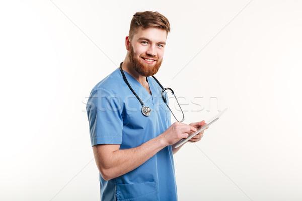 Stok fotoğraf: Portre · gülen · tıbbi · doktor · hemşire