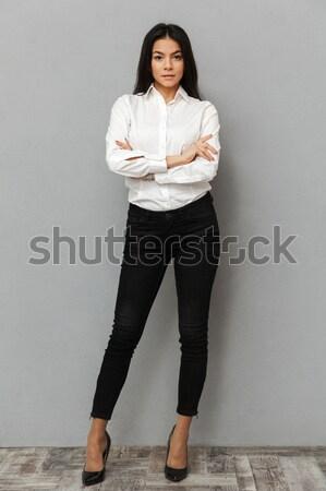 Foto d'archivio: Immagine · bella · donna · d'affari · formale · indossare