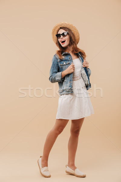 Portret vrolijk jong meisje zomer kleding Stockfoto © deandrobot