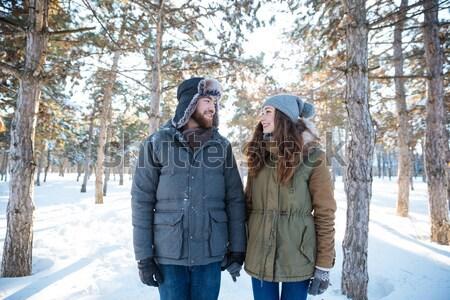 男 写真 ガールフレンド 屋外 幸せ ストックフォト © deandrobot
